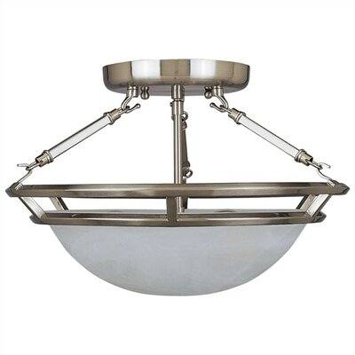 Gearheart 3-Light Semi-Flush Mount Finish: Pewter