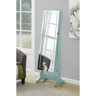 Jewelry Floor Mirror Finish: Light Blue