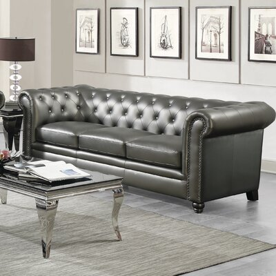 Vanallen Leather Chesterfield Sofa