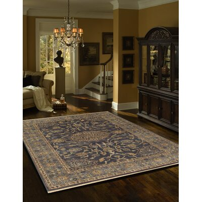 Landreneau Hand-Knotted Blue Area Rug Rug Size: Rectangle 56 x 86