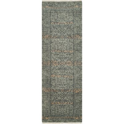 Landreneau Hand-Knotted Blue Knotted Rug Rug Size: Rectangle 2 x 3
