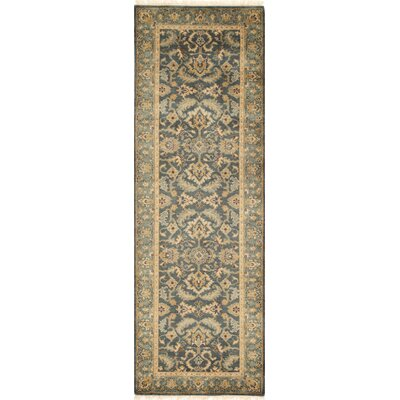 Landreneau Hand-Knotted Blue Knotted Rug Rug Size: Rectangle 79 x 99