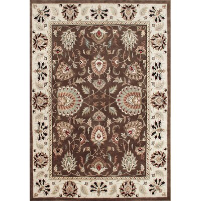Felix Hand-Tufted Ivory/Brown Area Rug