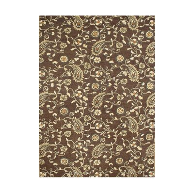 Heathcote Gray Hand-Tufted Tobacco Brown Area Rug Rug Size: 5 x 8