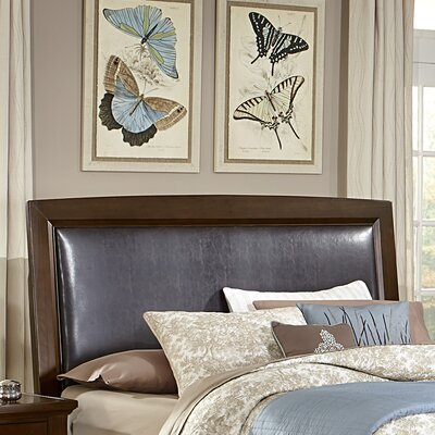 Bertram Upholstered Headboard Size: Full, Finish: Dark Cherry