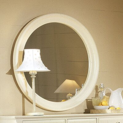 Hazelton Round Dresser Mirror Finish: Snow White