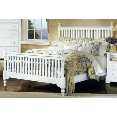 Marquardt Slat Panel Bed Size: King, Finish: Snow White