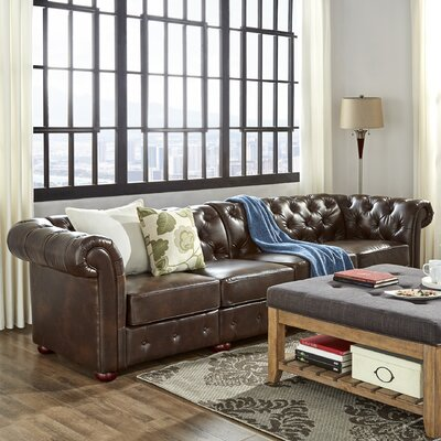 Gowans Traditional 4-Seater Button-Tufted Chesterfield Sofa