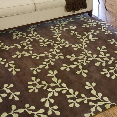 Fulkerson Vine Coffee Bean Area Rug Rug Size: Rectangle 9 x 13