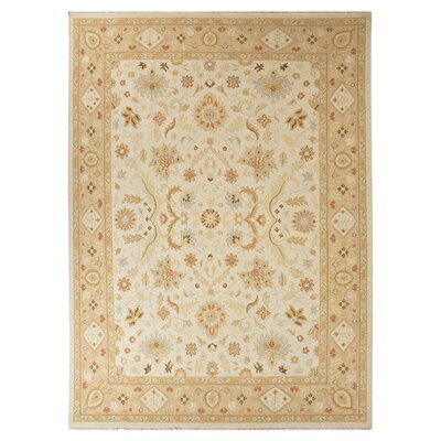 Hampstead Hand-Knotted Ivory/Taupe Area Rug Rug Size: 2 x 3