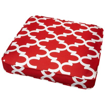 Stylish Outdoor Dining Chair Cushion Size: 19 W x 19 D, Fabric: Scalloped Red