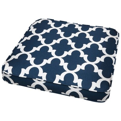 Stylish Outdoor Dining Chair Cushion Size: 19 W x 19 D, Fabric: Scalloped Navy