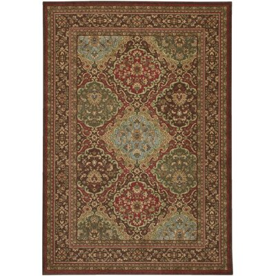 Blumenthal Red/Green Area Rug Rug Size: Rectangle 53 x 76