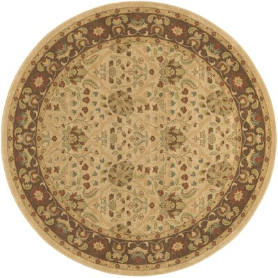 Blumenthal Latte/Chocolate Area Rug Rug Size: Round 710