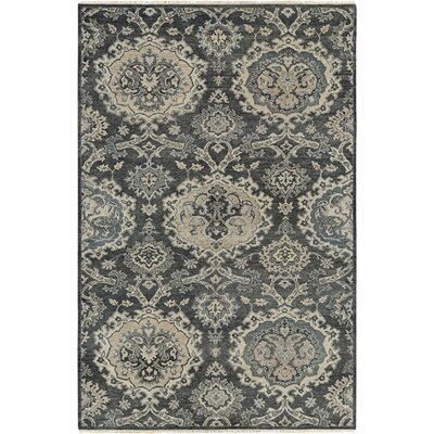 Harwich Hand-Knotted Gray Area Rug Rug Size: Rectangle 56 x 89
