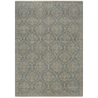 Harwich Floral Arabesque Hand-Knotted Sage Green Area Rug Rug Size: Rectangle 8 x 113