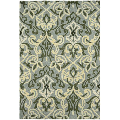 Union Hand-Knotted Sage Indoor/Outdoor Area Rug Rug Size: 36 x 56