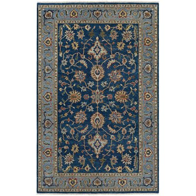Harwich Hand-Knotted Sapphire Area Rug Rug Size: Rectangle 56 x 89