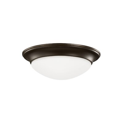 Byrnedale 1-Light Flush Mount Base Finish: Heirloom Bronze