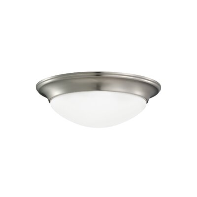 Byrnedale 1-Light Flush Mount Base Finish: Brushed Nickel