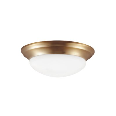 Byrnedale 1-Light Flush Mount Base Finish: Satin Bronze