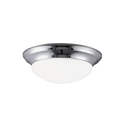 Byrnedale 1-Light Flush Mount Base Finish: Chrome