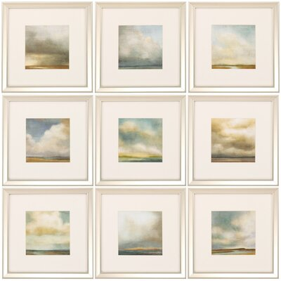 Atmosphere 9 Piece Framed Painting Print Set