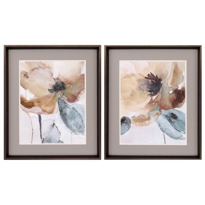 Poppy 2 Piece Framed Painting Print Set