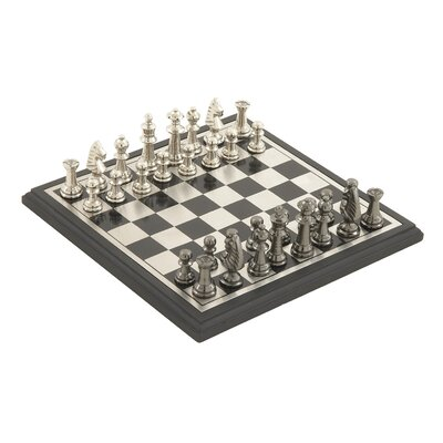 Aluminum and Wood Chess
