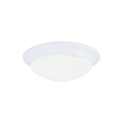 Byrnedale 2-Light Flush Mount Base Finish: White