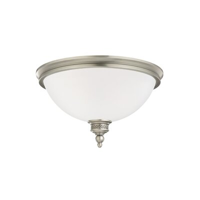 Westerville 2-Light Flush Mount Finish: Antique Brushed Nickel