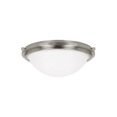 Dashiell 2-Light Flush Mount Base Finish: Brushed Nickel