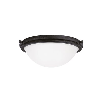 Dashiell 3-Light Flush Mount Base Finish: Blacksmith