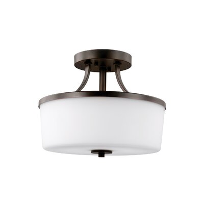 Burnley 2-Light Semi Flush Mount Finish: Burnt Sienna