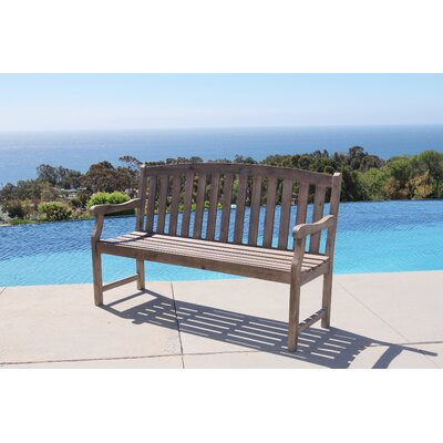 Densmore Wood Garden Bench Finish: Grey