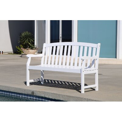 Densmore Wood Garden Bench Finish: White