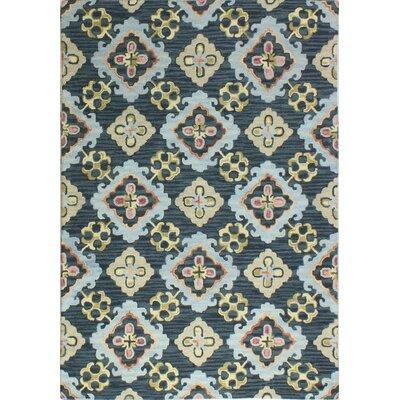Meriline Hand-Tufted Navy Area Rug Rug Size: 76 x 96