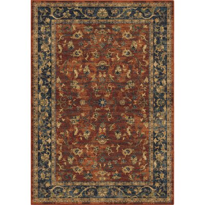 Lilah Floral Trail Red/Beige Area Rug Rug Size: 710 x 1010