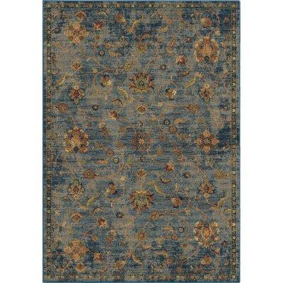 Lilah Vintage Vines Blue/Beige Area Rug Rug Size: 710 x 1010