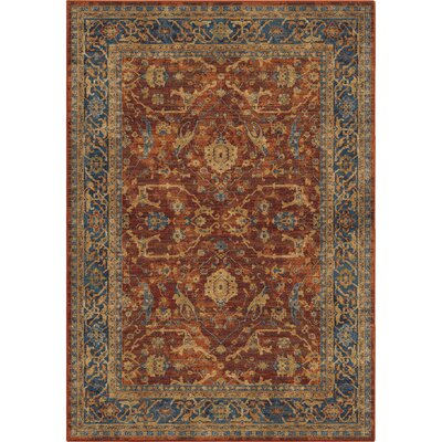 Lilah Red/Blue Area Rug Rug Size: 710 x 1010