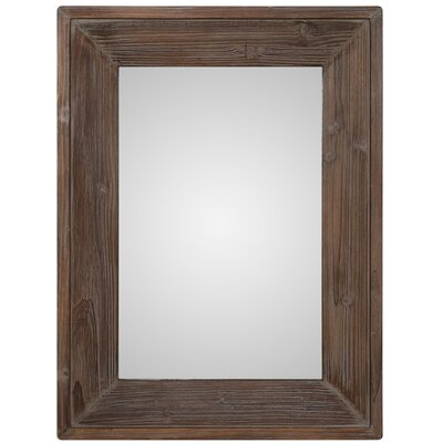 Retangle Brown Wall Mirror