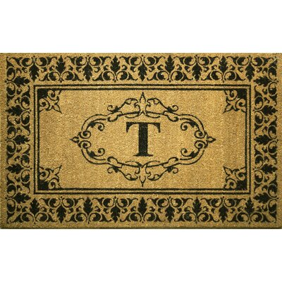 Awilda Letter Doormat Rug Size: 3 x 6, Letter: T