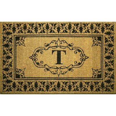 Awilda Letter Doormat Mat Size: 26 x 4, Letter: T