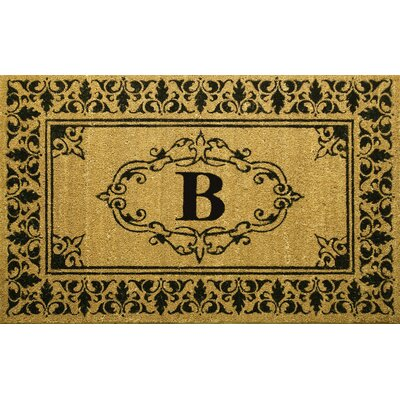 Awilda Letter Doormat Rug Size: 26 x 4, Letter: B
