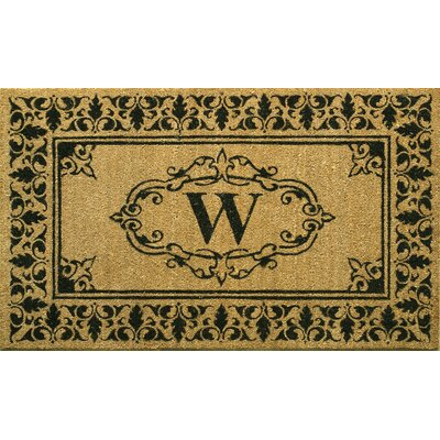 Awilda Letter Doormat Mat Size: 26 x 4, Letter: W