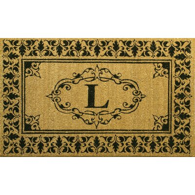 Llewellyn Letter Doormat Rug Size: 3 x 6, Letter: L