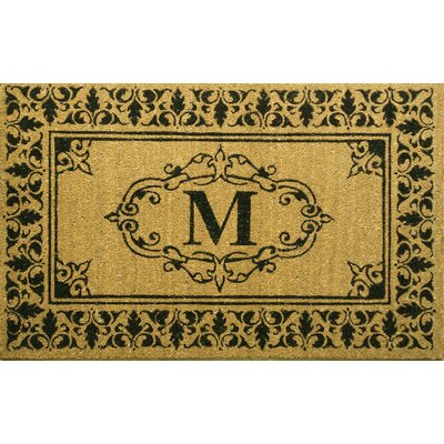 Llewellyn Letter Doormat Rug Size: 3 x 6, Letter: M