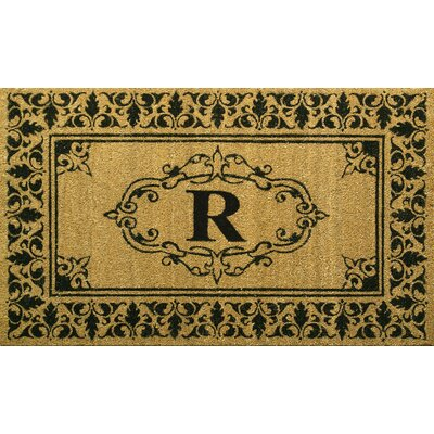 Awilda Letter Doormat Mat Size: 3 x 6, Letter: R