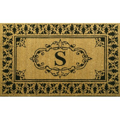 Llewellyn Letter Doormat Rug Size: 3 x 6, Letter: S