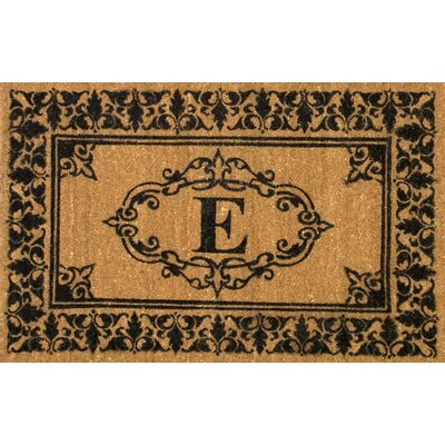 Awilda Letter Doormat Rug Size: 3 x 6, Letter: E